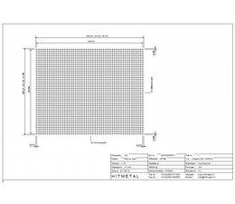 Draaddiameter 4,0, Afmeting 2500 x 2000 mm