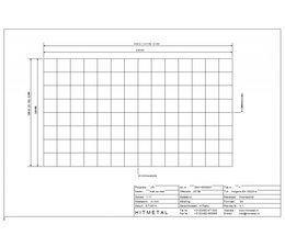 Draaddiameter 3,0, Afmeting 2100 x 1200 mm
