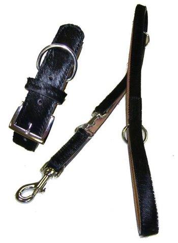 Arwedson® Halsband und Leine mit Kuhfell