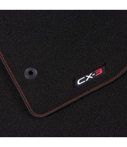 Mazda CX-3 Fußmattensatz rot Luxury