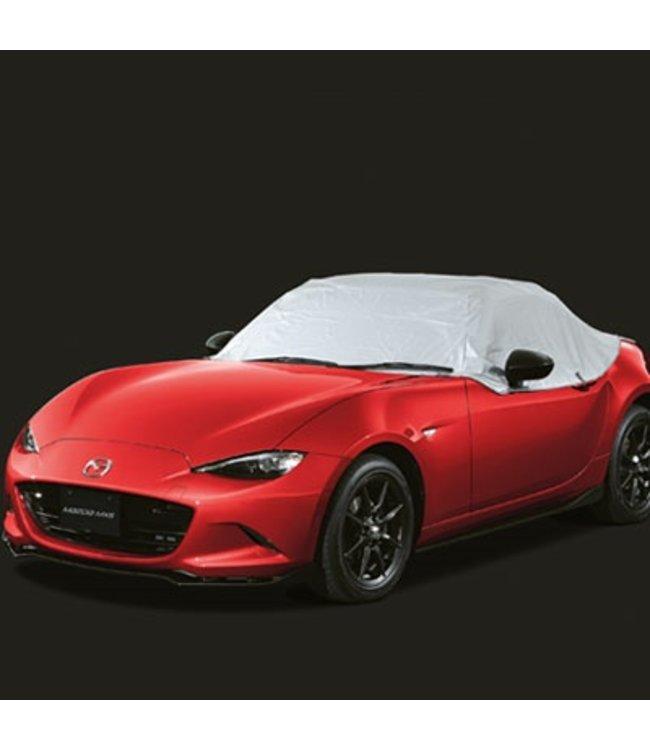 Mazda MX-5 ND Karosserieschutzhülle Halbgarage für draußen mit Mazda Logo