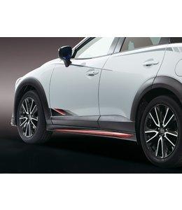 Mazda CX-3 Seitenschweller schwarz rubinrot lackiert original