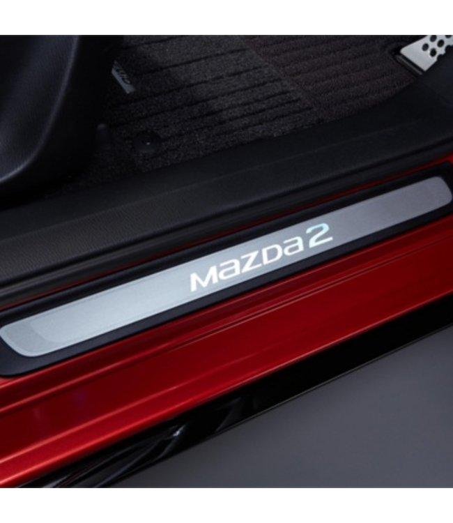 Mazda 2 Einstiegsblenden Leisten beleuchtet original 2-teilig