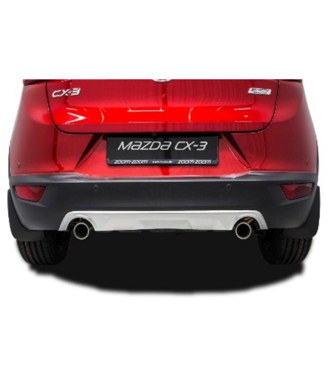 Mazda CX-3 Design-Unterfahrschutz hinten lackiert in matt silber