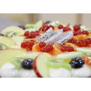 Vruchtenvlaai (citroen bavaroise)