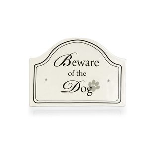 Beware of the Dog keramieke bord