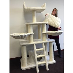 RHRQuality Cat Tree Cream Panther