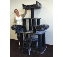 RHRQuality Cat Tree Black Panther Blackline