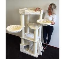 RHRQuality Cat Tree Corner Coon Cream