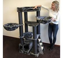 RHRQuality Cat Tree Corner Coon Blackline Dark Grey