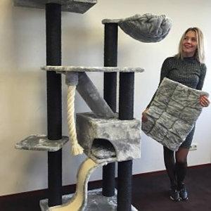 RHRQuality Cat Tree Kilimandjaro de Luxe Blackline Light Grey