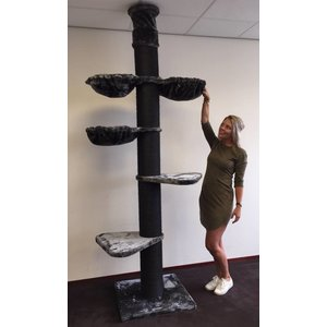 RHRQuality Arbre à chat Maine Coon Tower Blackline Anthracite Plus