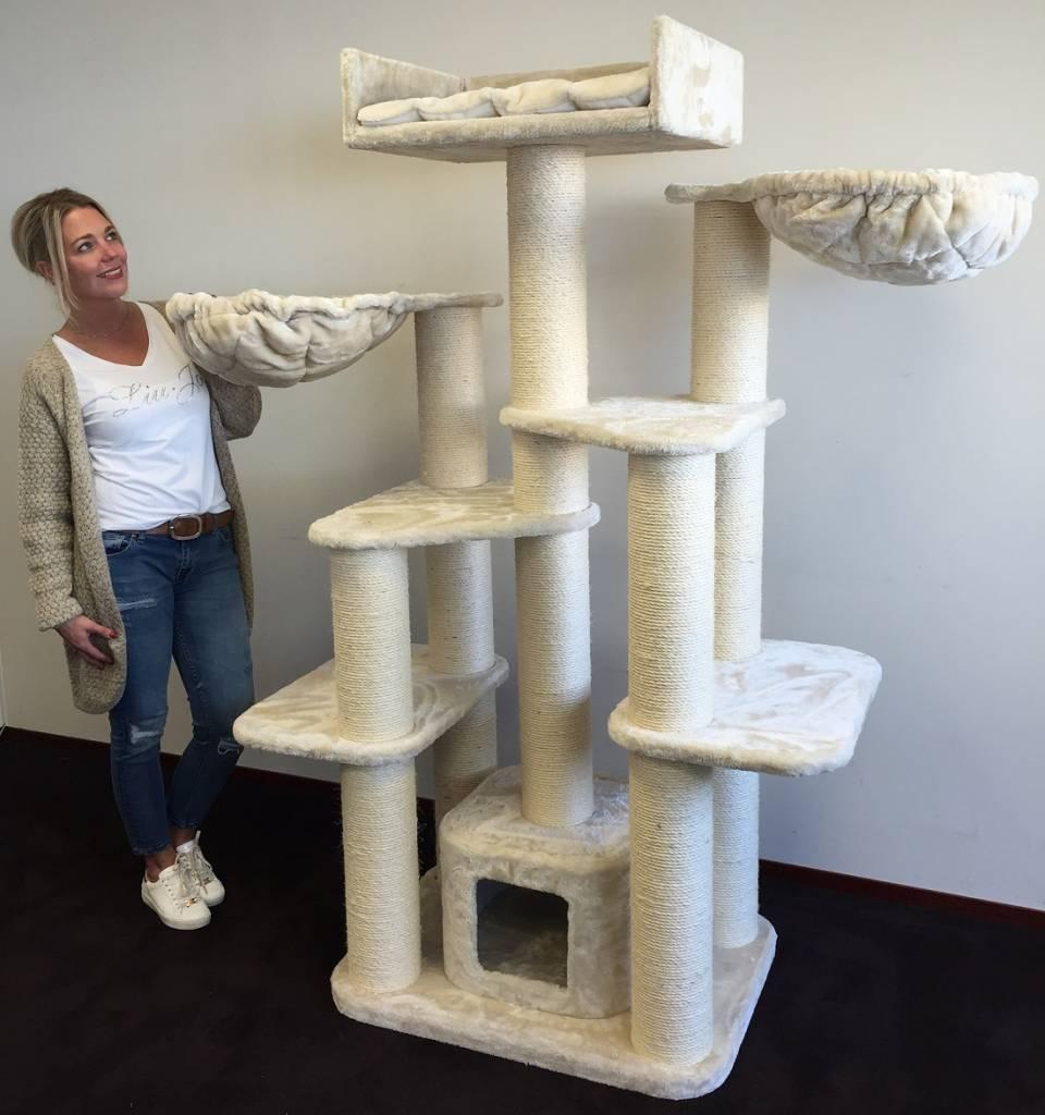 arbre chat maine coon fantasy creme. Black Bedroom Furniture Sets. Home Design Ideas