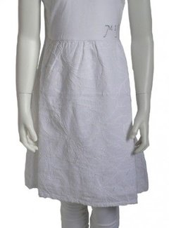 MIJN-kleding ACTIEPRIJS: Feestjurkje sportief wit met borduursels