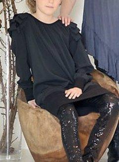 Frankie & Liberty OP=OP:  feestjurkje in zwart met lussen