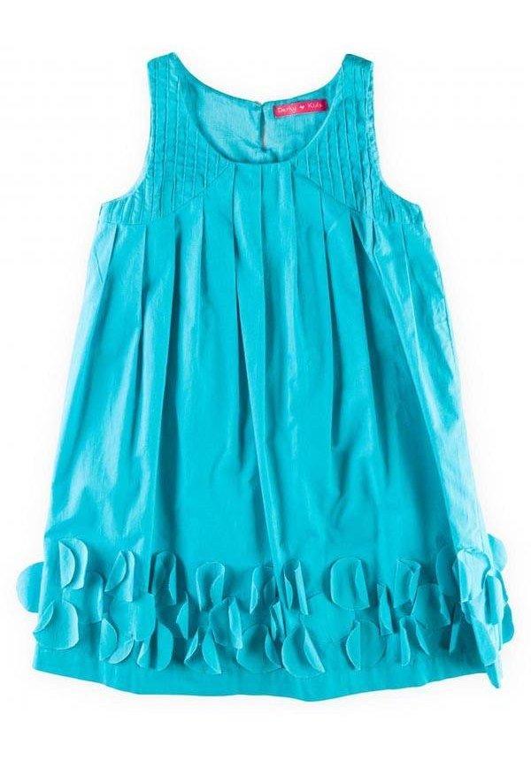 Feestjurkje A-lijn in turquoise