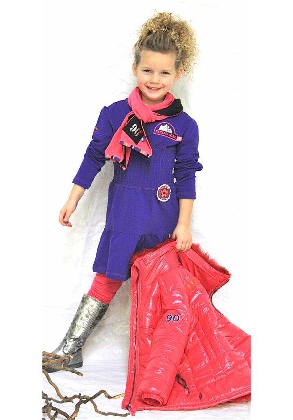 Meisjesjurkje in paars violet van AW Kidswear, maat 152/158