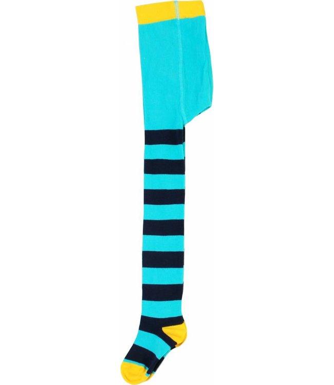 DUNS Sweden Maillot gestreept donkerblauw/blauw met gele hiel/teen van Duns Sweden