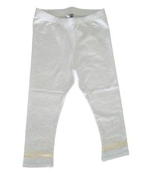 Doerak jurkjes 60% korting: Legging wit met goud stipjes, mt 164