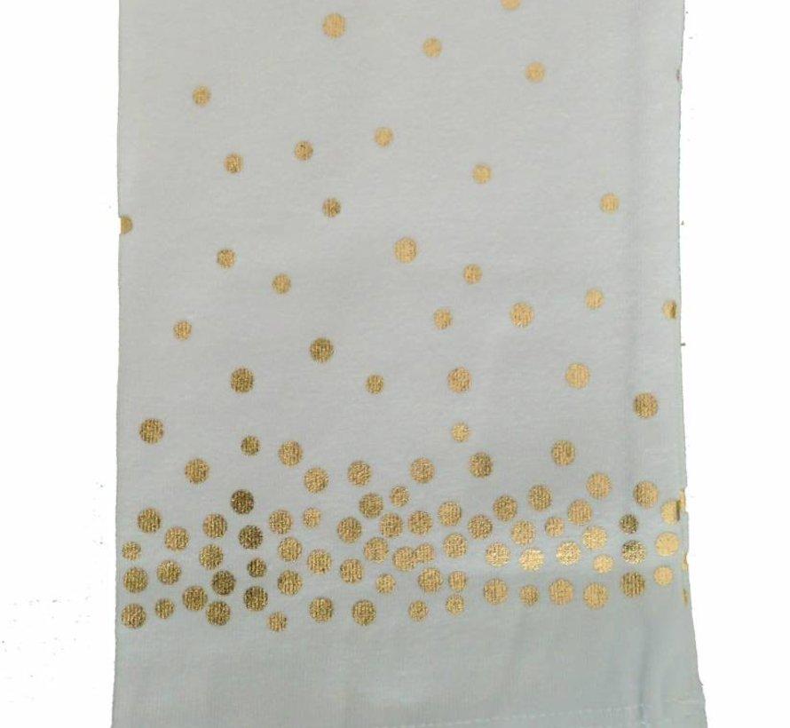 Witte legging met gouden stippen van Doerak