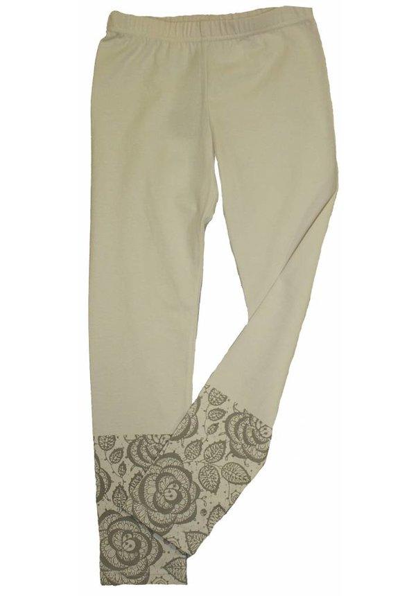 Gebroken wit legging met bedrukking van kant van Seguro