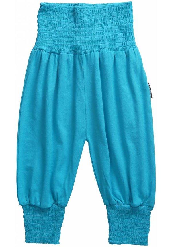 Turquoise pofbroek van Maxomorra zomer 2014