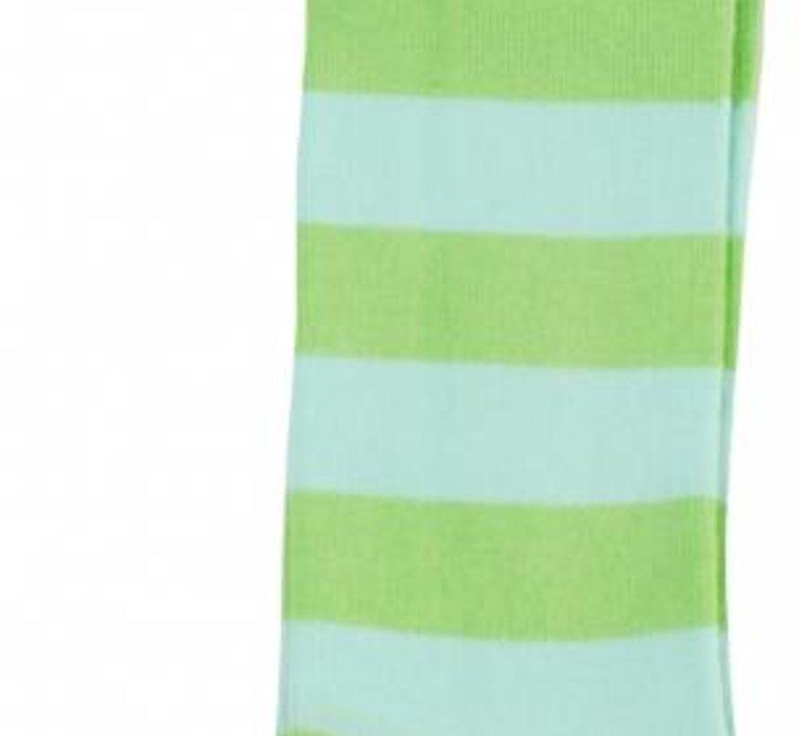 Groen turquoise streepsok van DUNS Sweden