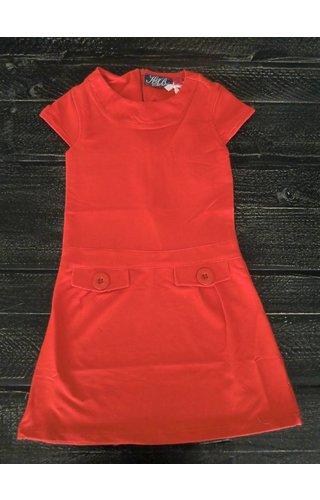 Knot so Bad 60% korting: rood 'Jacky' jurkje