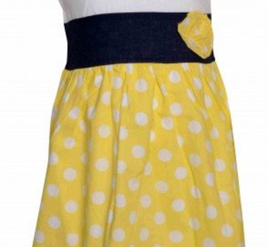 Gele dots zomerjurkje van Knot so Bad.