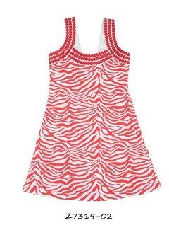 LoFff OP=OP: zebrajurkje rood, mt 98
