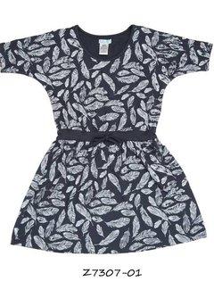 LoFff OP=OP: Blauw jurkje, mt 92, met veertjes en vleermuismouwtjes