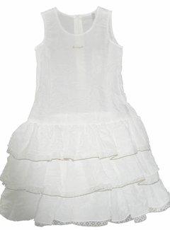 Doerak jurkjes 60% korting: Meisjesjurkje wit/goud