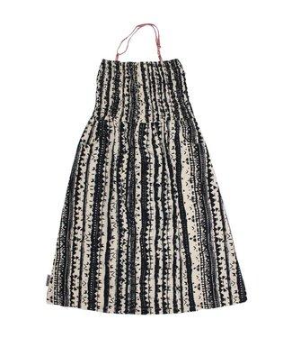 MIJN-kleding Enkellange strandjurk zwart-offwhite