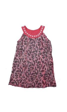 LoFff 60% korting: zomerjurk plissé roze