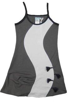 LoFff TOPPER: grijs jurkje met witte baan