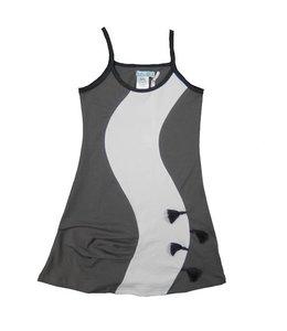 LoFff 60% korting: grijs jurkje met witte baan