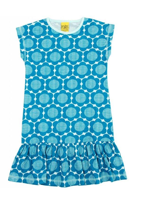 Blauw turquoise bloemen jurkje van More than a fling