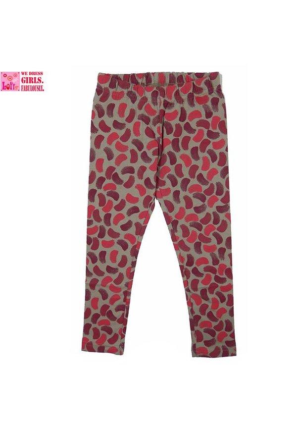 Legging kwastveegjes cerise roze, wintercollectie