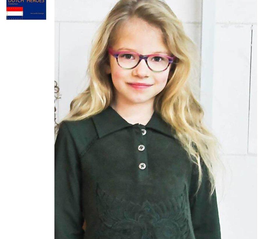 Groene badstof jurk van Dutch Heroes TATA Girls