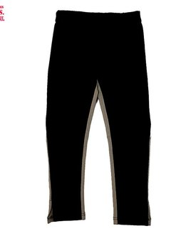LoFff *HIP* Taupe tricot- zwart softshell tregging
