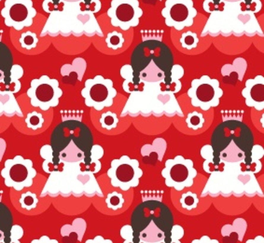 Kerstjurkje in rood met engeltjes van JNY Design
