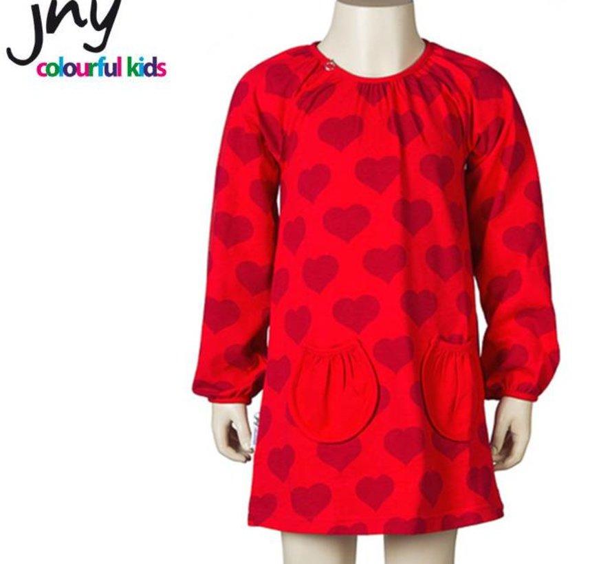 Jurkje in rood met hartjes van JNY Design