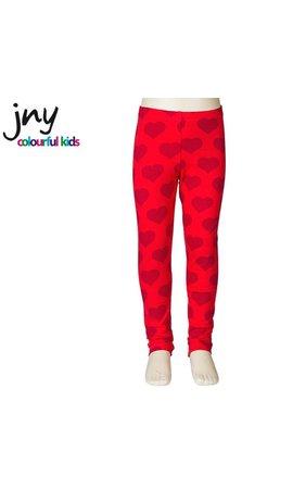 JNY Design Legging rood met hartjes
