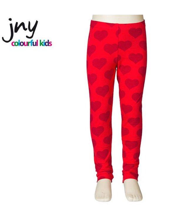 JNY Design Legging in rood met hartjes van JNY Design