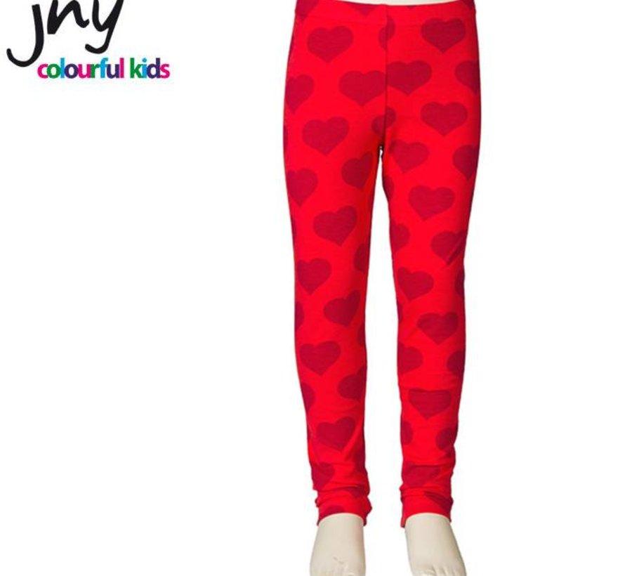 Legging in rood met hartjes van JNY Design