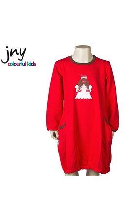 JNY Design Ballonjurkje kerst rood met engel
