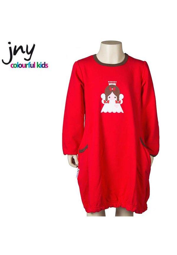 Jurkje n rood met grote engel applicatie van JNY Design