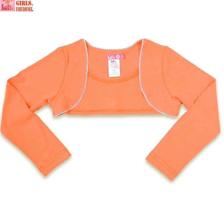 Bolero coral (oranje) neon met lange mouwen van L oFff