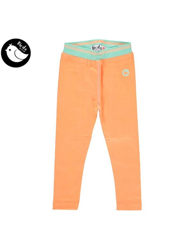 Legging in neon orange van Birds by D-rak