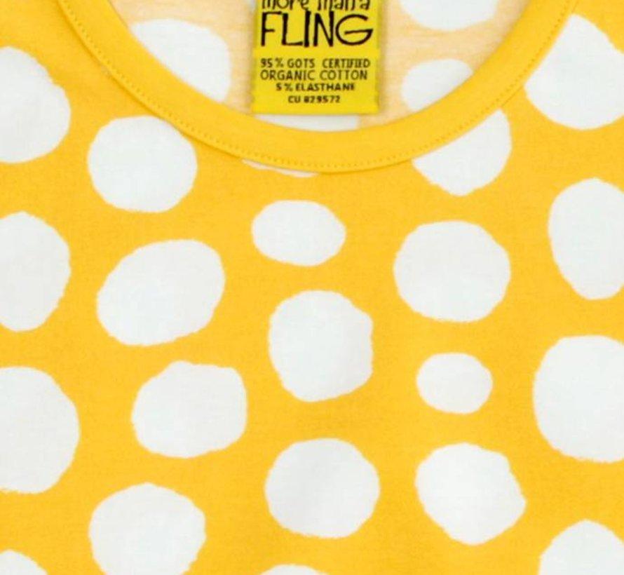 Gele stippenjurkje van More than a fling